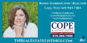 Renee Harrington Realtor 615-943-7384